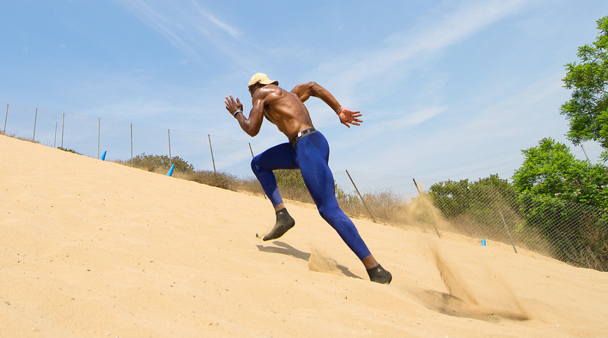 T.O. keeps his body in football shape, which explains why he still runs up sand dunes at a 60-degree angle.