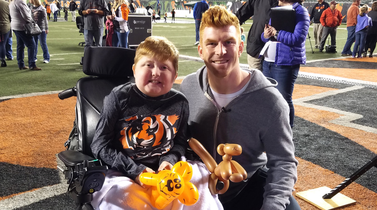 Brody with Andy Dalton.