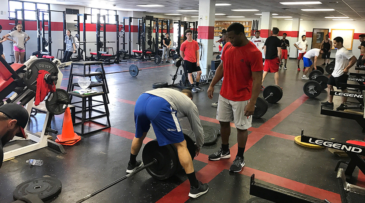 Nick Chubb's NFL combine prep looks quite different than that of other top NFL prospects.