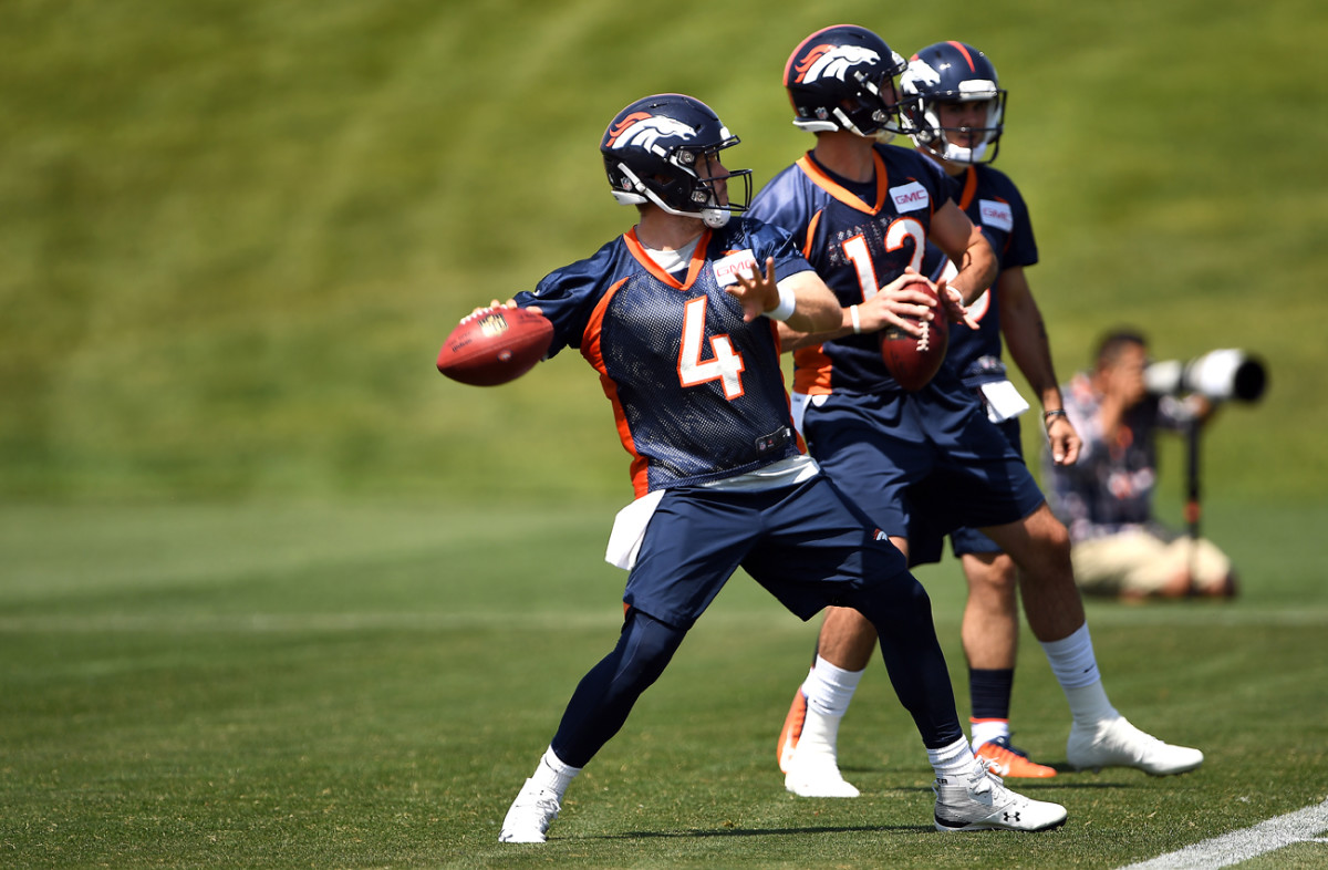 Case Keenum and Paxton Lynch, June 2018.