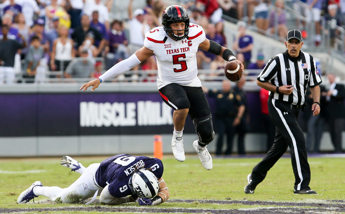 Flashing his stuff as a Red Raider in 2016.