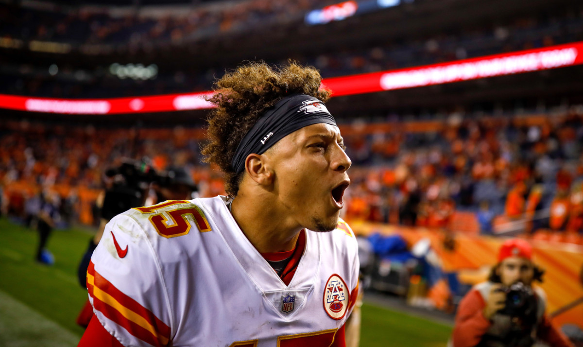 It's not all quiet composure—the comeback road victory at division-rival Denver on Monday Night Football got Mahomes pumped.