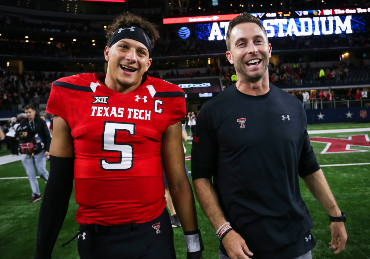 With Kingsbury, who was himself a prolific Air Raid QB at Texas Tech (and who threw all of two passes in the NFL).