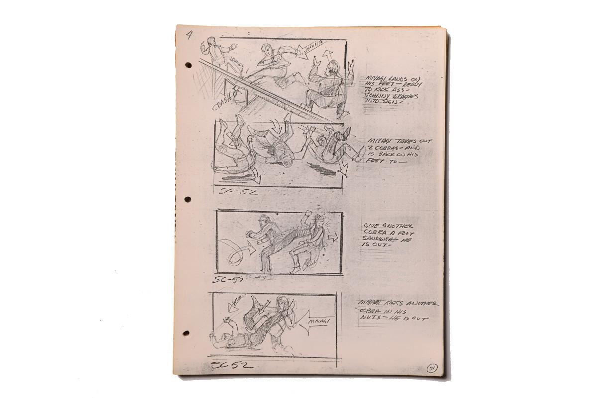 "Storyboard: Mr. Miyagi is ""ready to kick ass"" against the Cobra Kai."