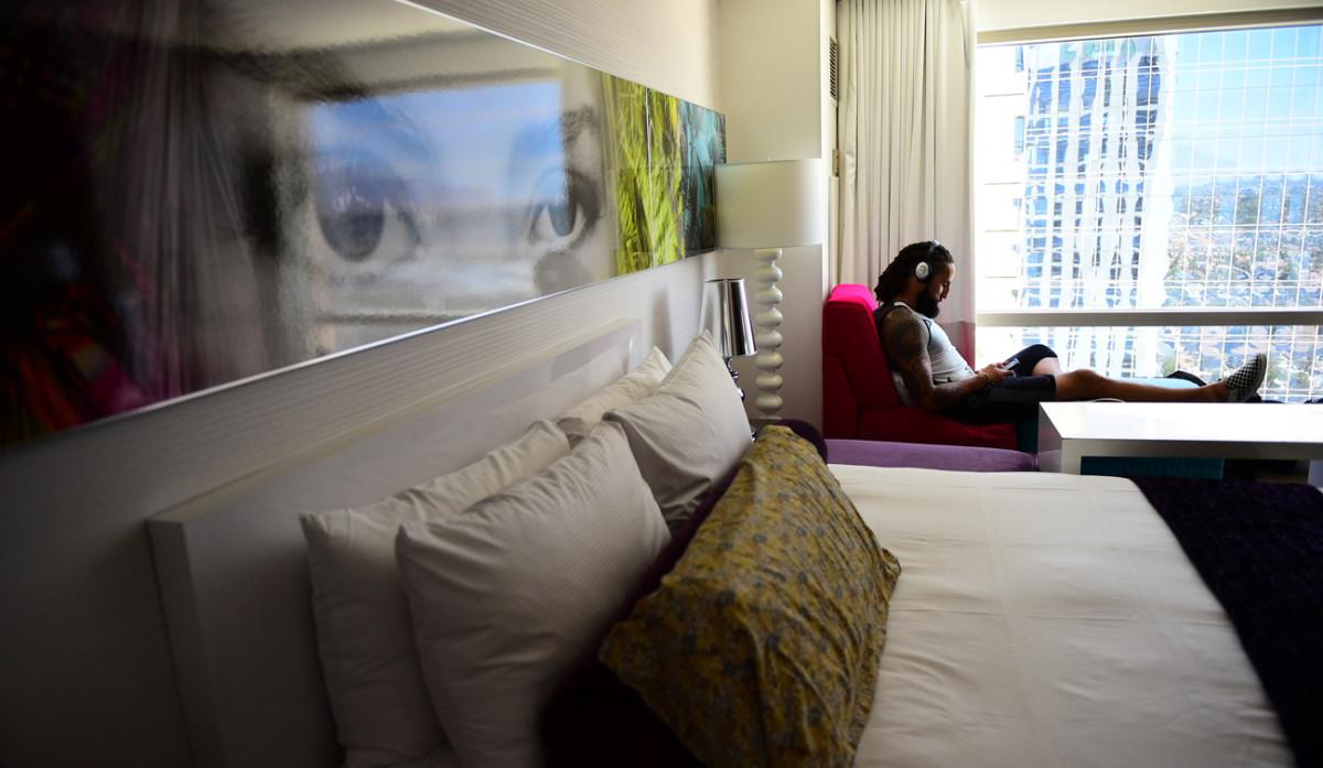 Austen Lane in his hotel, pre-fight.
