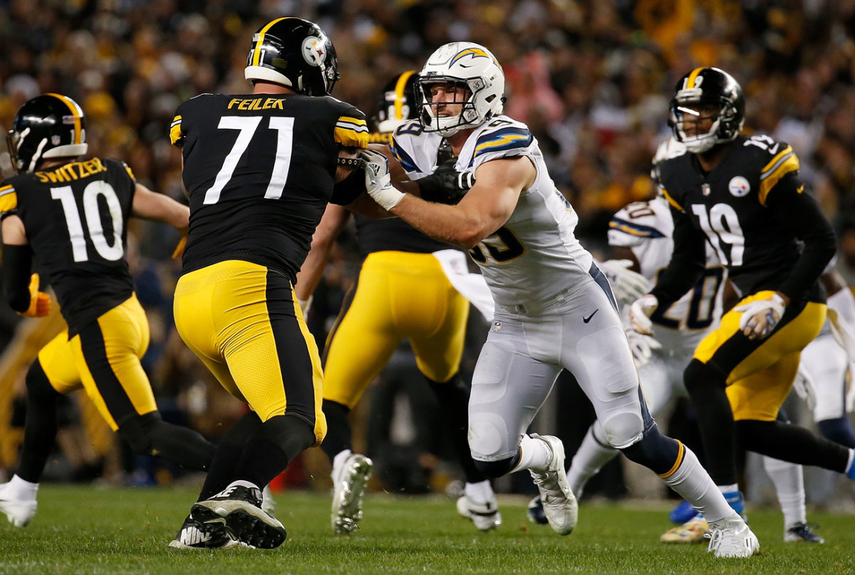 Bosa and the Chargers brought the defensive heat in the second half.