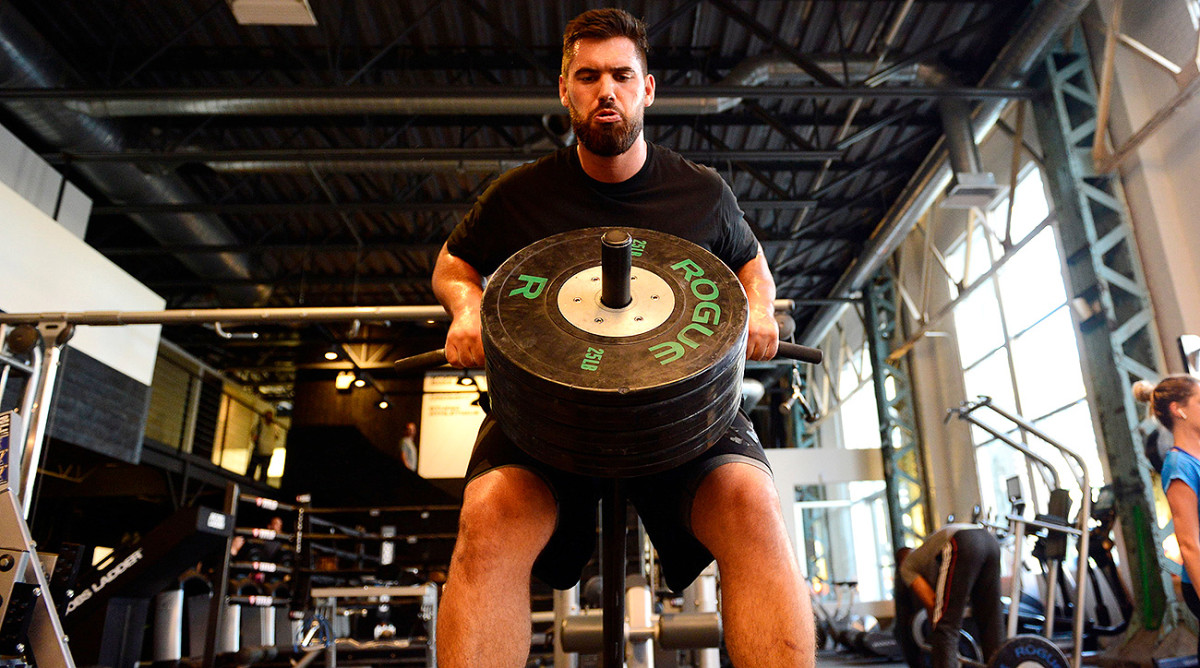 Duvernay-Tardif fits in workouts around his hours spent at the hospital.