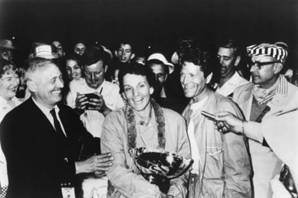 McCluggage and Eager after winning at Sebring.