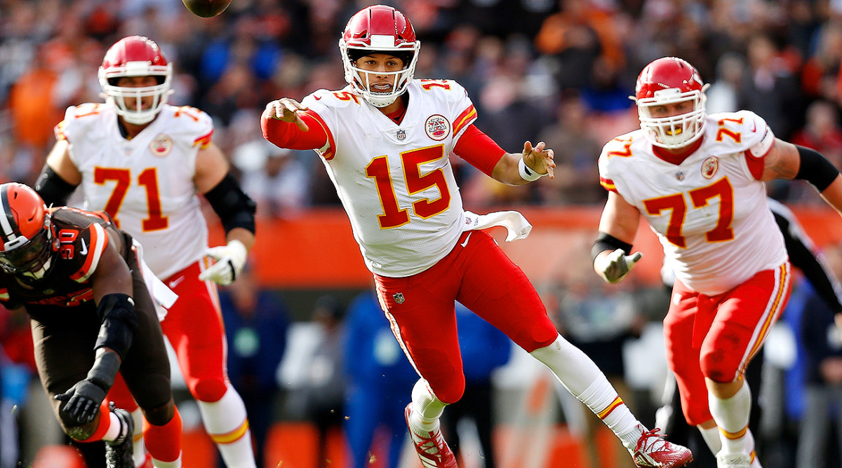 Patrick Mahomes set NFL records for most TD passes thrown through first three career games (10), most TD passes thrown through the first three games of a season (10) and the most TD passes thrown through first eight career games (22).
