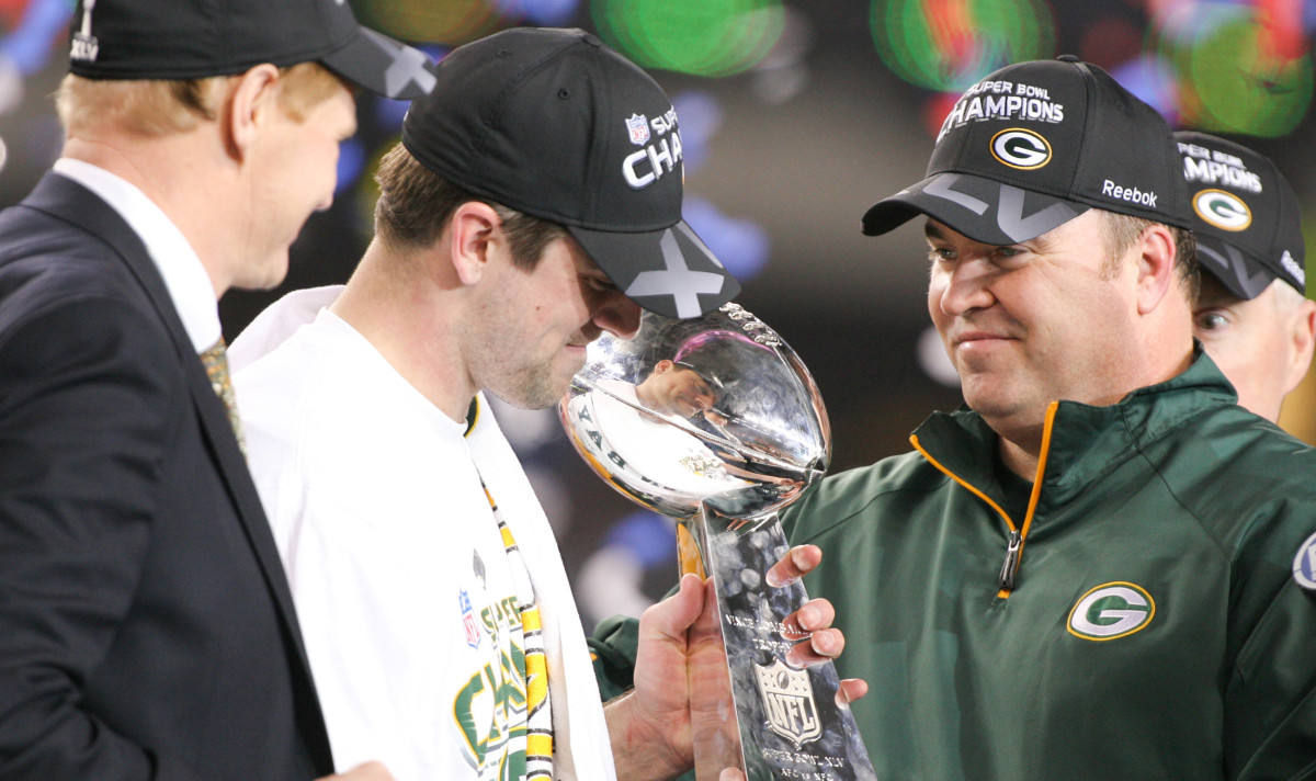 Rodgers and McCarthy captured the Lombardi Trophy in Rodgers' third season as a starter.