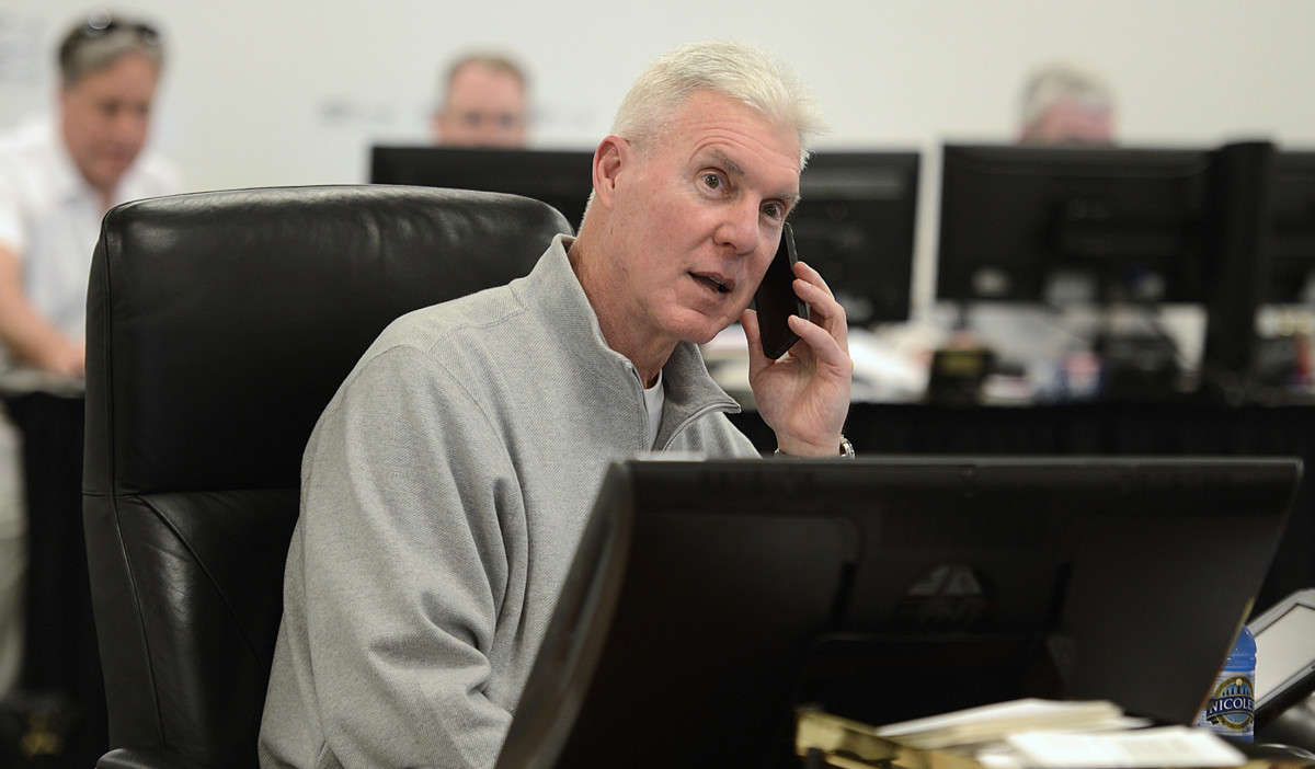 Ted Thompson, in the war room during the 2014 draft, served as Packers GM from 2005-17 and still consults with the team.