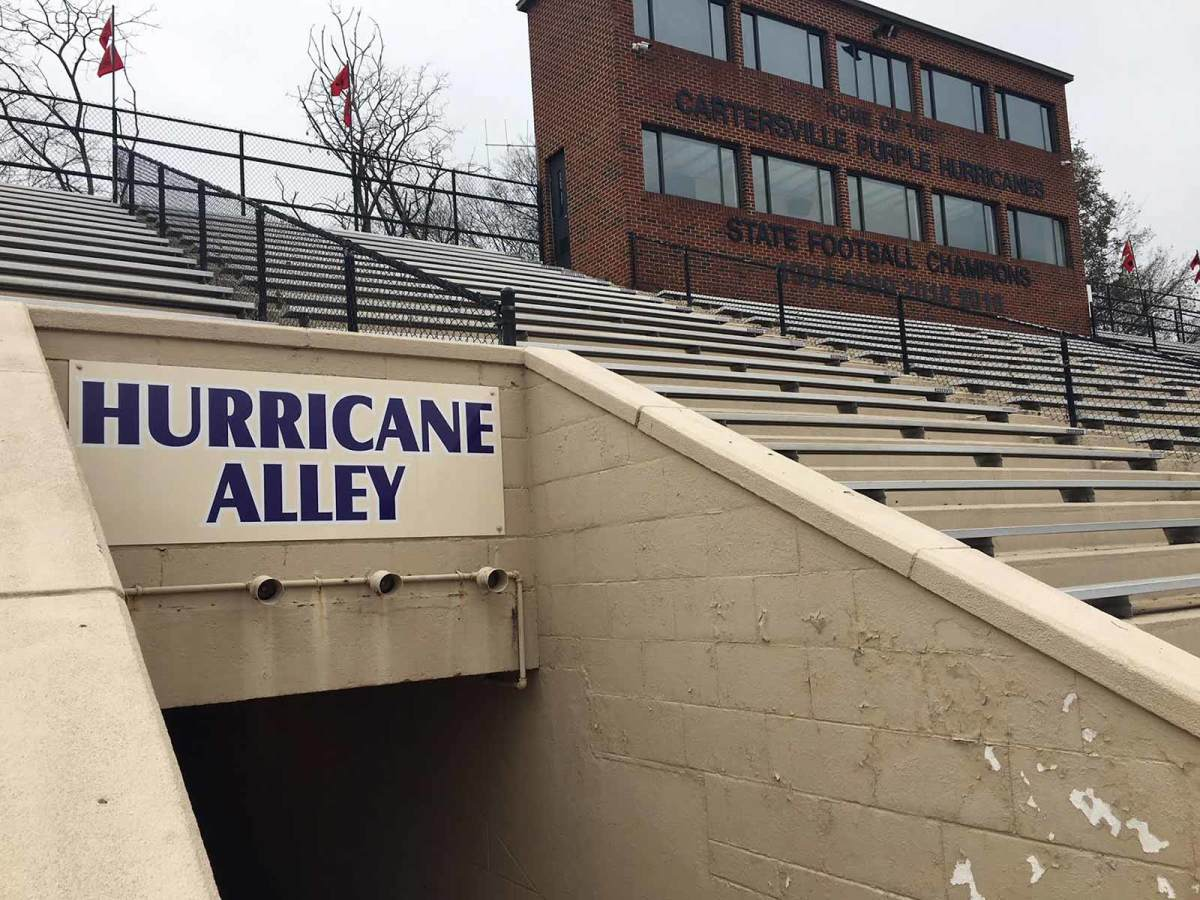 Weinman Stadium is the home to the Cartersville High Hurricanes. The school is constructing a $5.8 million new athletic complex next to the stadium, primarily for football.