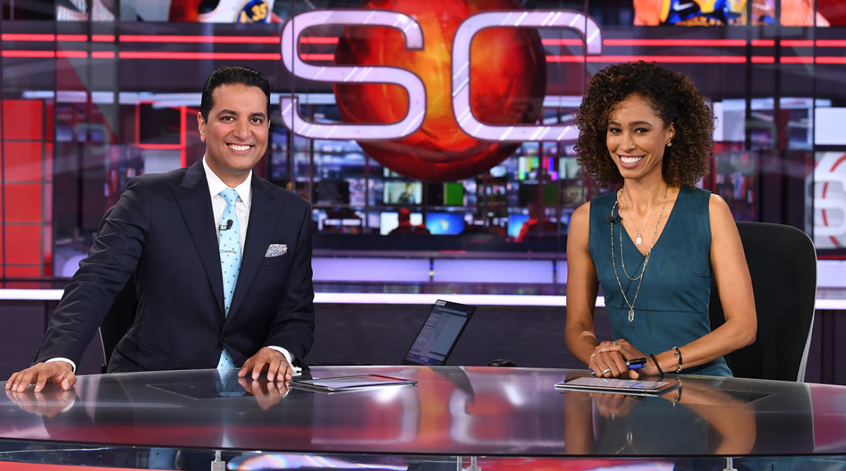 Espn 6 P M Sportscenter Enjoys Big Ratings Bump With New Hosts Sports Illustrated