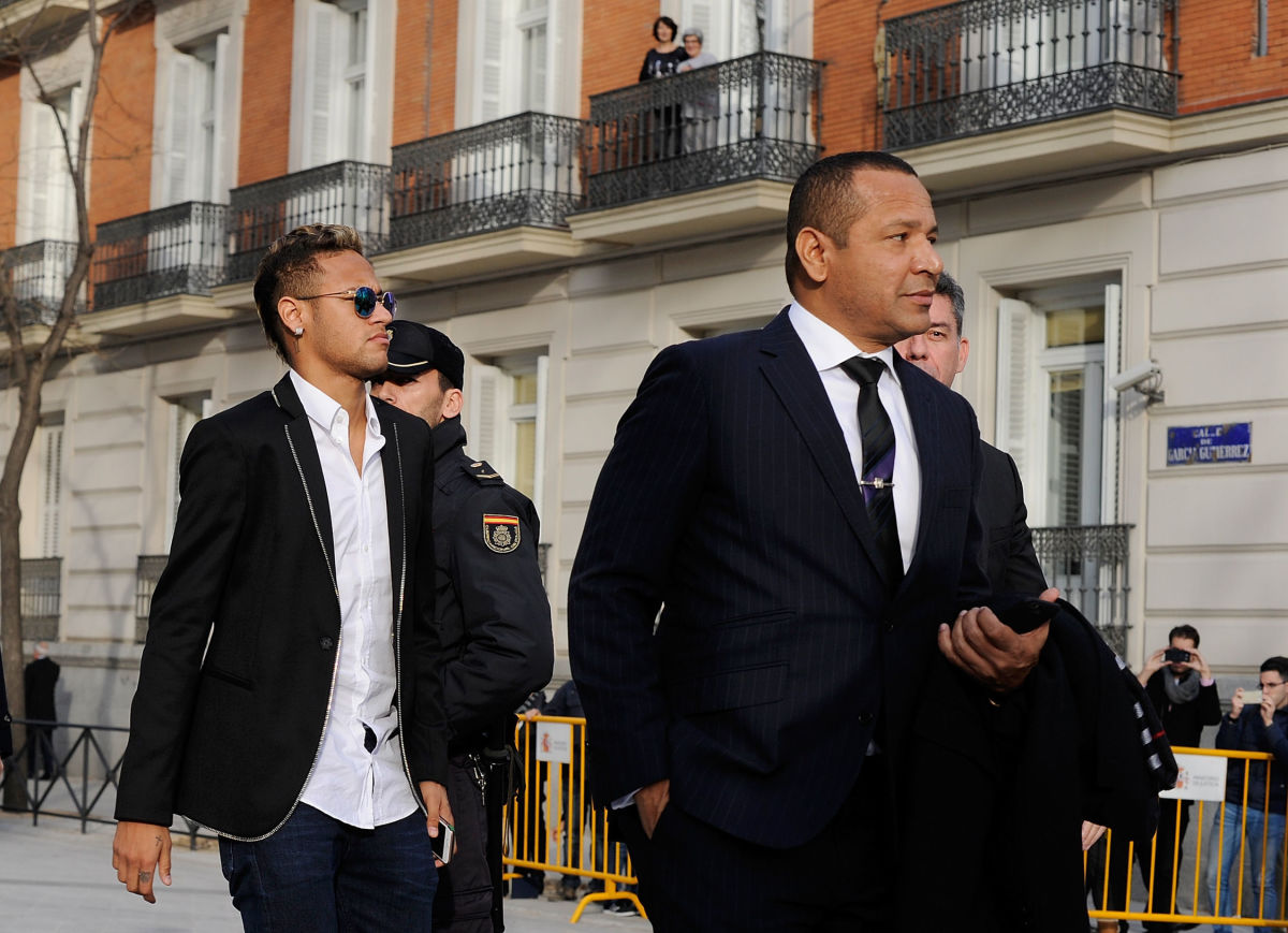 Neymar At National Court On FC Barcelona Fraud Investigation
