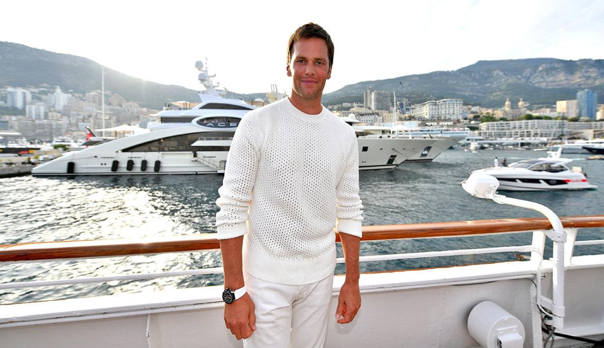 Ship shape: Brady in was in Monaco in late May for the F1 race.