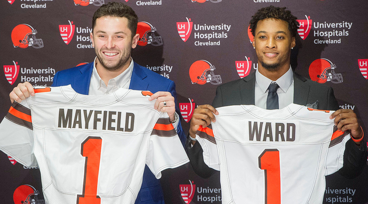 Baker Mayfield and Denzel Ward, the Browns' first-round draft picks.