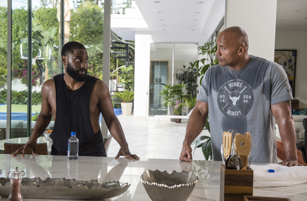 With Dwayne Johnson on 'Ballers.'