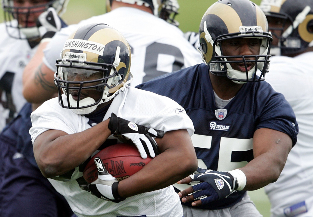 Washington earned a free-agent contract with the Rams after going undrafted out of Morehouse, where he was the school's all-time leading rusher.