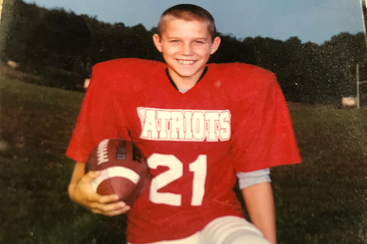 Mike Trout played peewee football growing up before baseball took over.