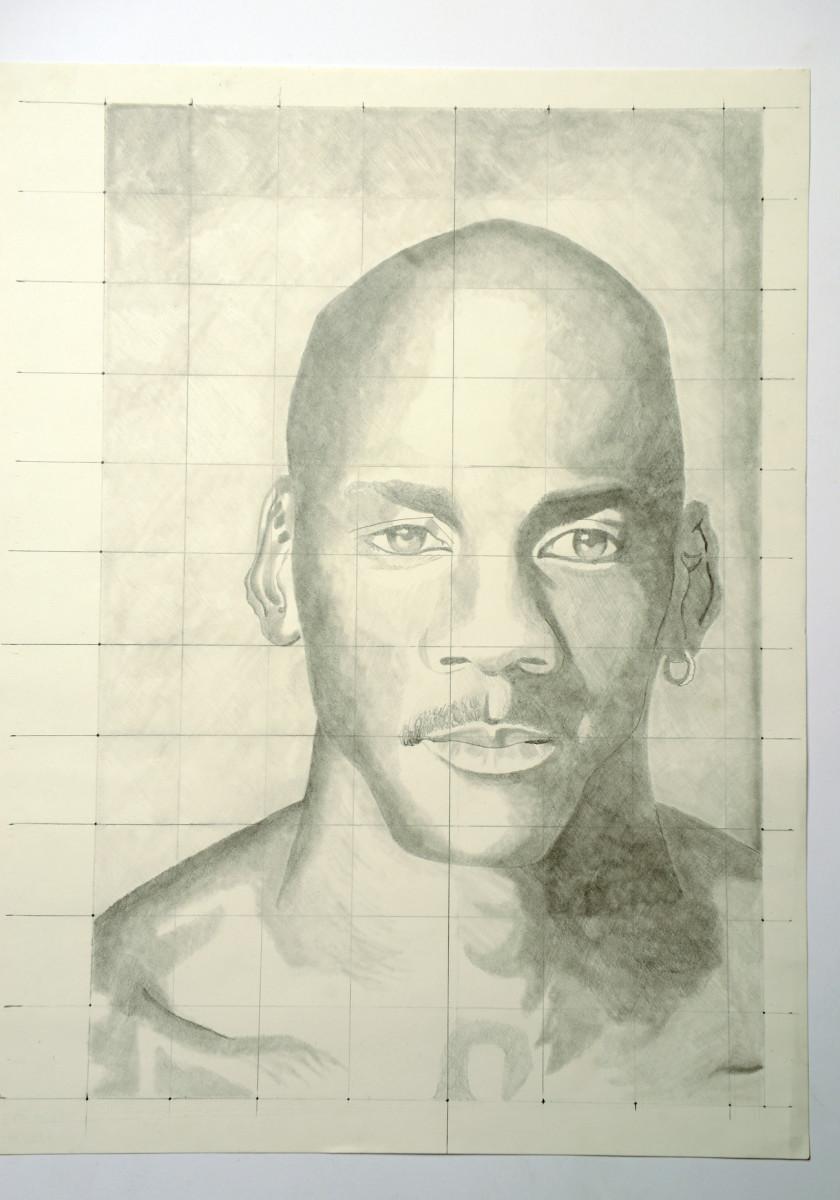 A Michael Jordan portrait, by Devon.
