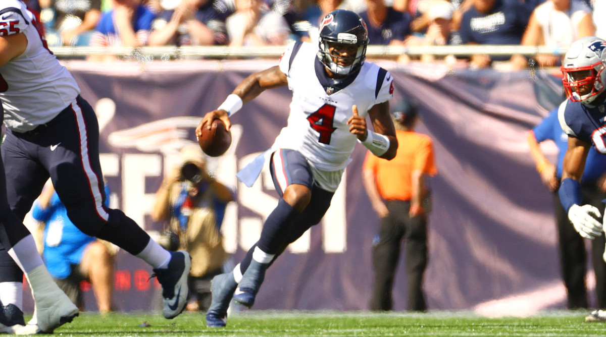 Watson threw for 1,699 yards and 19 touchdowns in seven games played before tearing his ACL.