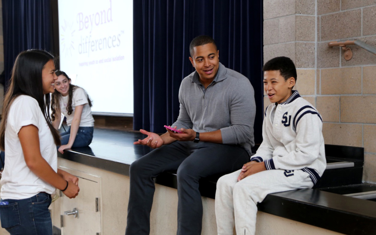 In spring 2016 Martin made a number of speaking appearances at Bay Area schools through the organization Beyond Differences, discussing social isolation and self-image.