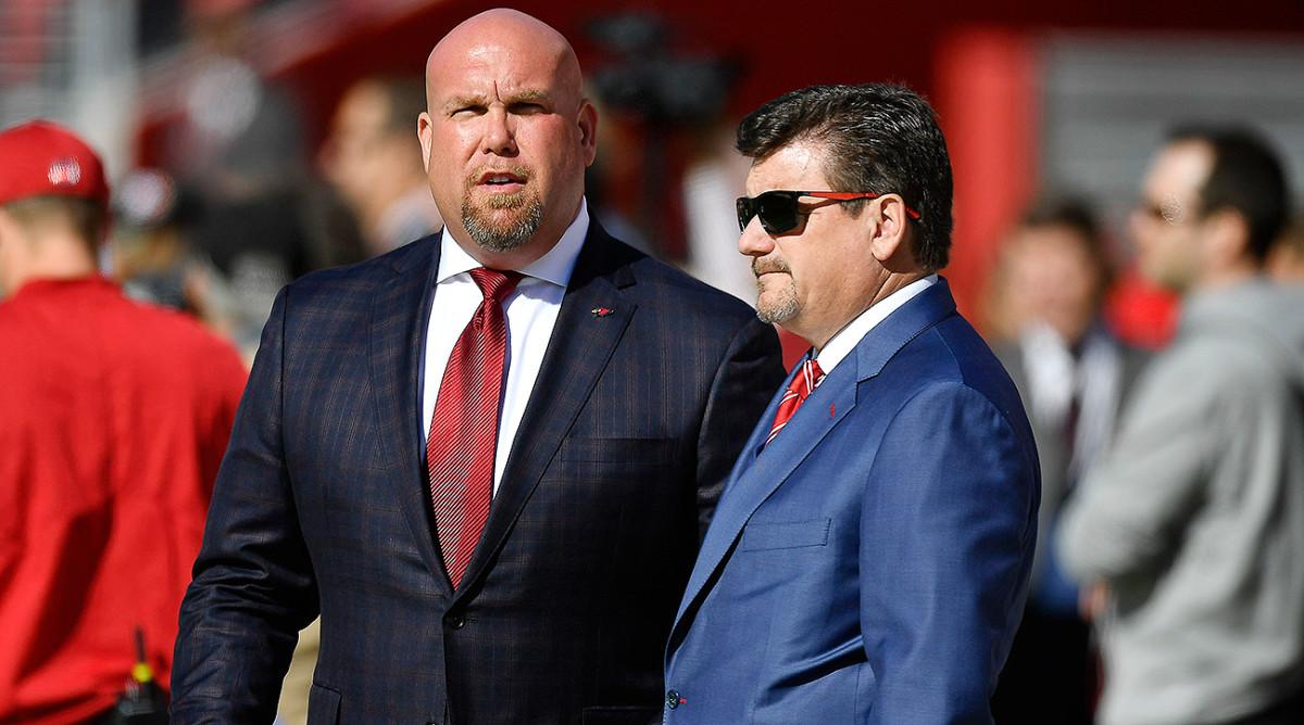 Cardinals GM Steve Keim (left) and president Michael Bidwill