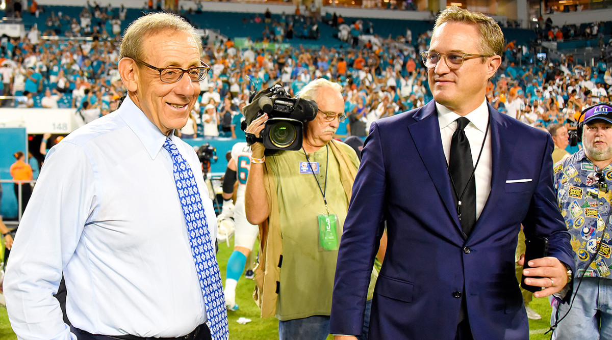 Dolphins owner Stephen Ross (left) and vice chairman Tom Garfinkel