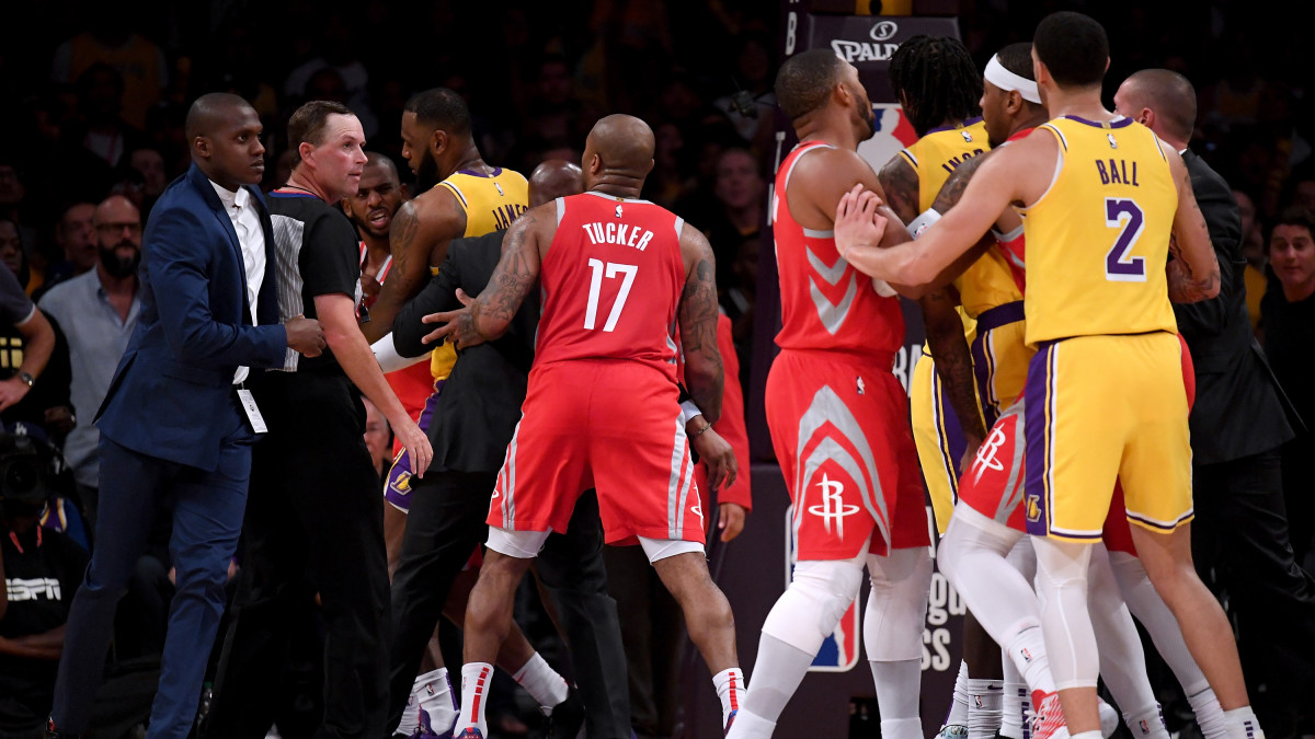 Lakers vs. Rockets fight: Paul, Rondo, Ingram suspended by ...