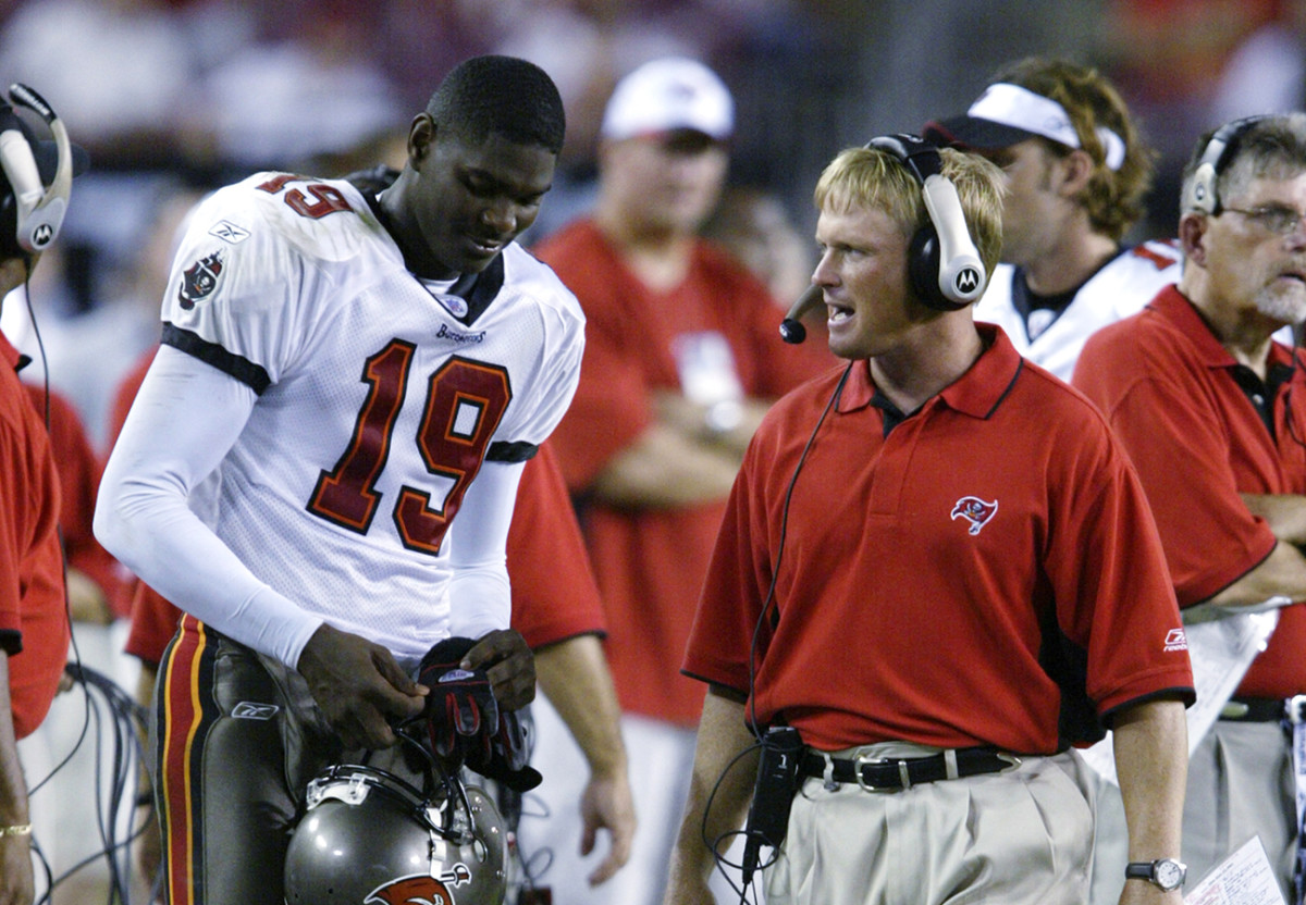 Keyshawn Johnson had a falling out with Gruden and the Bucs during the 2003 season, and the team deactivated the star wideout for the final six games that season.