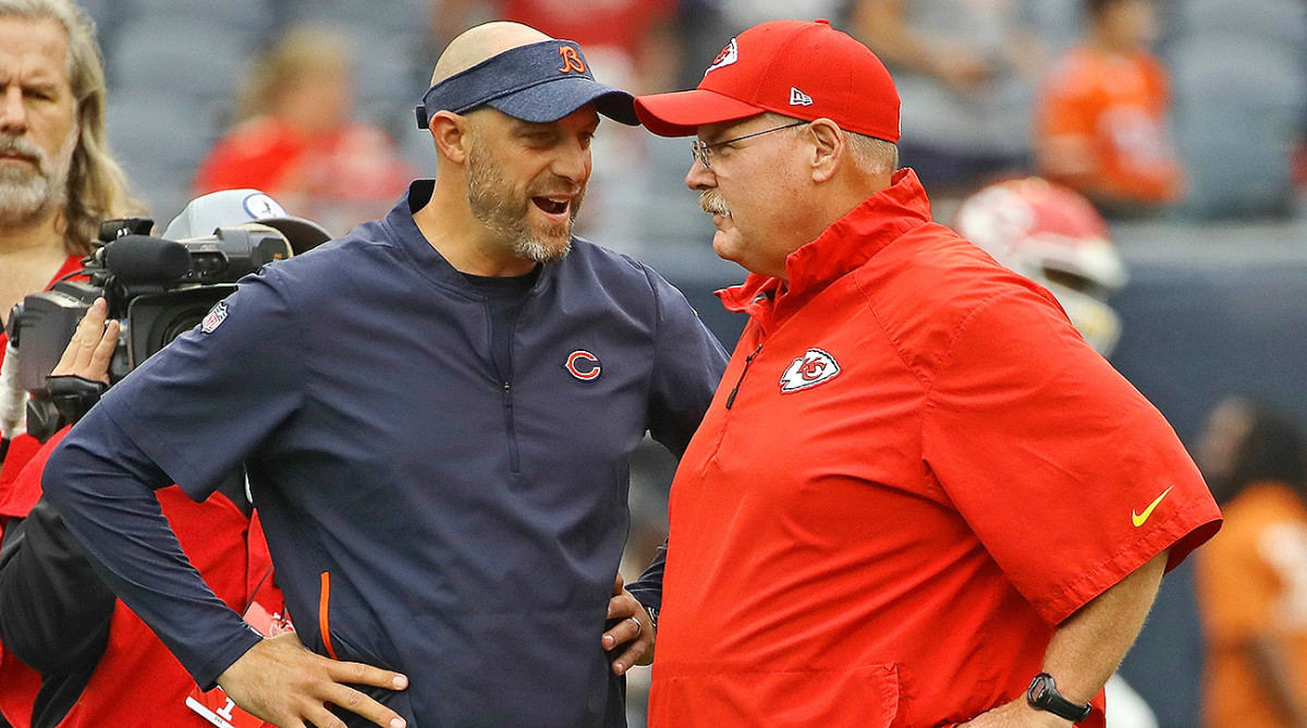 Matt Nagy also moved from Philadelphia to Kansas City with Andy Reid, working for two seasons as his offensive coordinator before being hired as the Bears head coach.