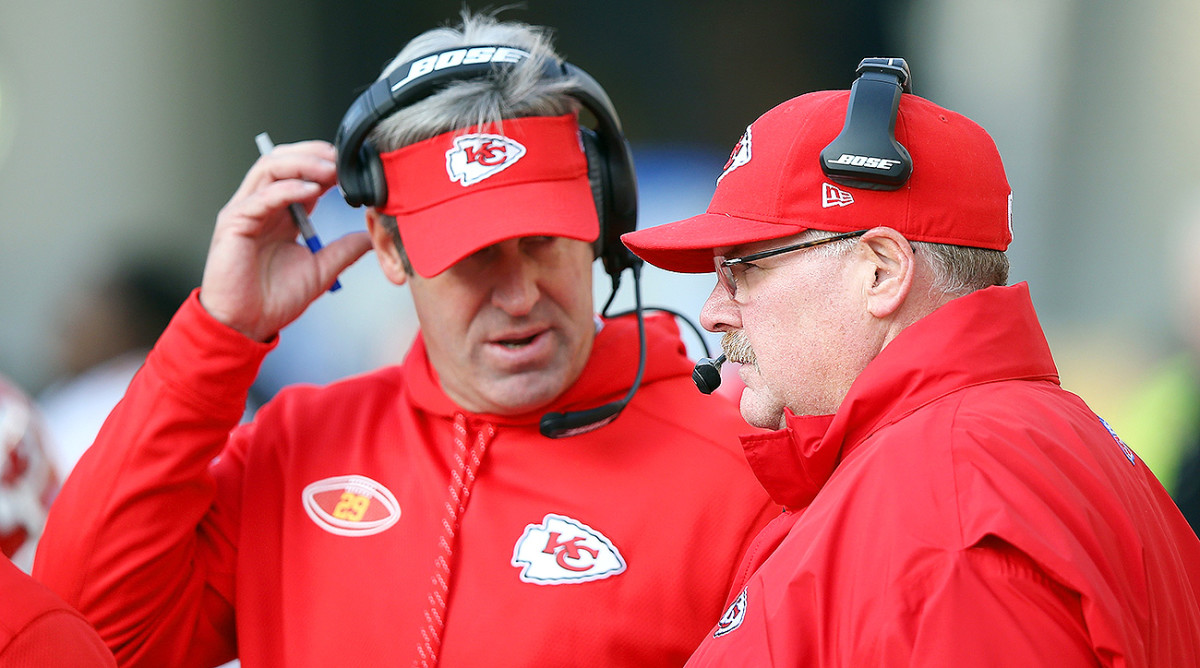 Doug Pederson, here during a Chiefs game in 2014, worked under Andy Reid with the Eagles from 2009-12 and with the Chiefs from 2013-15 before being hired as the Eagles head coach.
