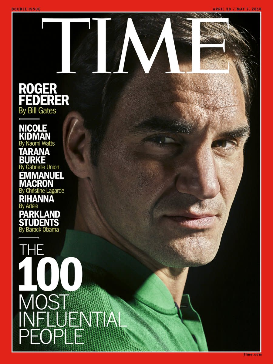 Roger Federer Graces Cover Of TIME's 100 Most Influential
