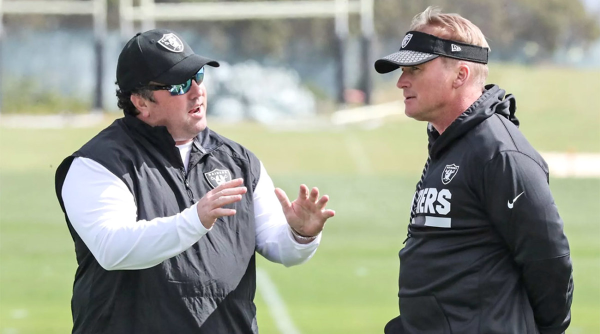 Guenther (left) and Gruden.