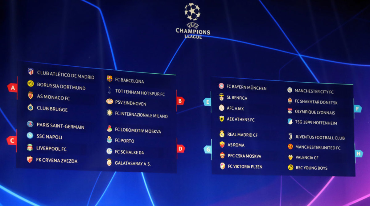 Champions League Group Stage Results