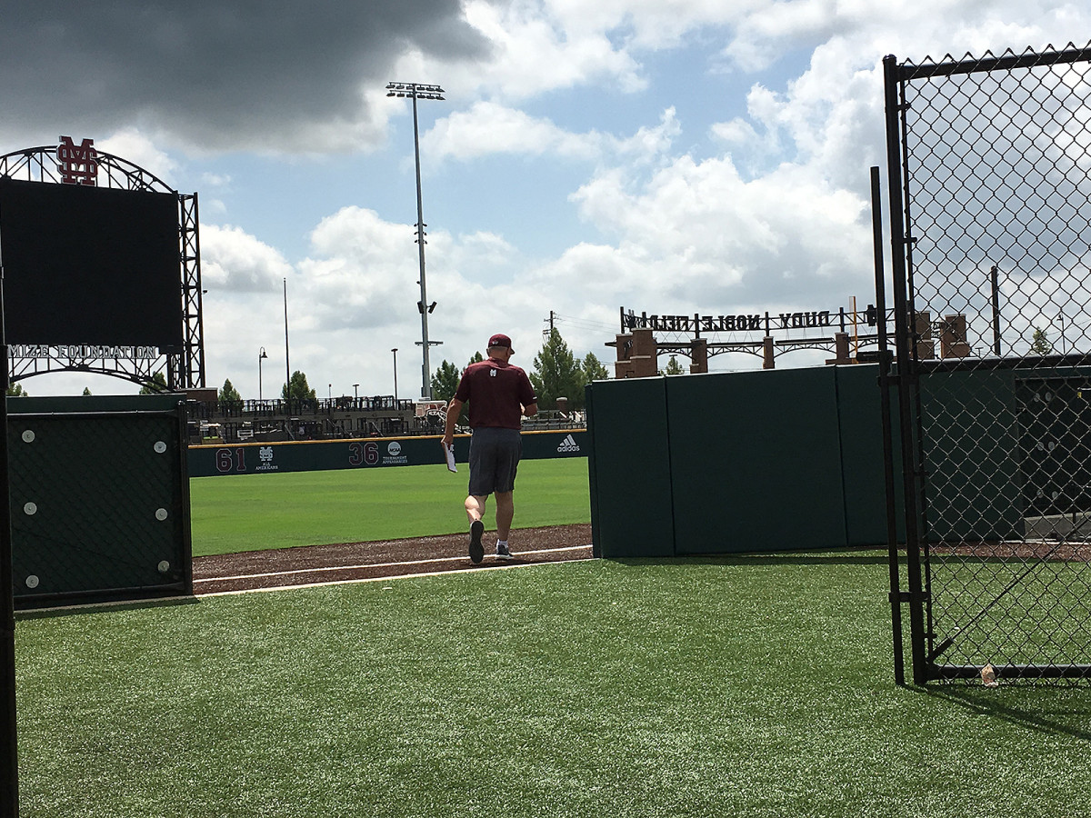 Gary Henderson enters Mississippi State's baseball field for practice Tuesday, his team preparing for the College World Series.