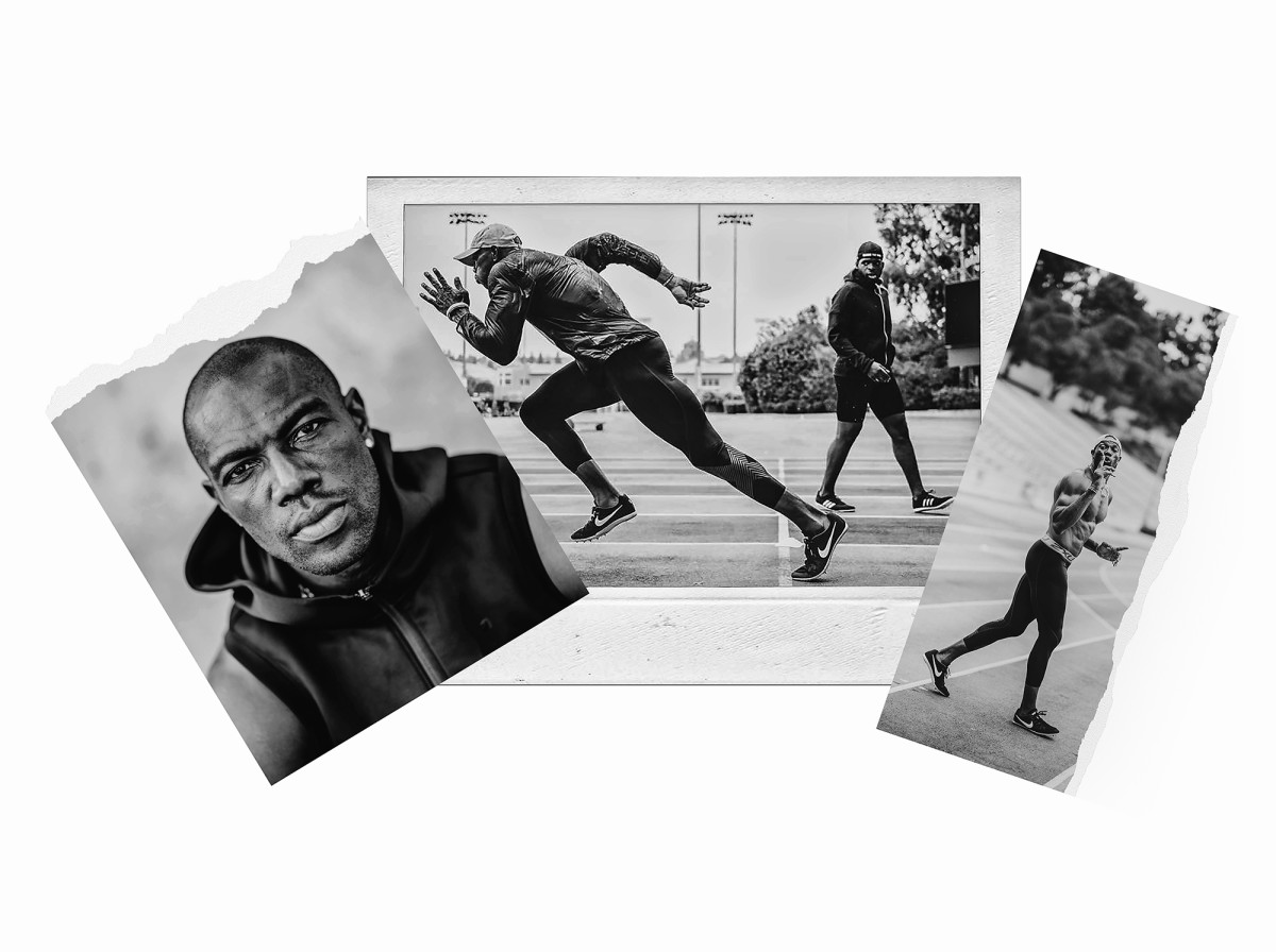Terrell Owens trains in Los Angeles