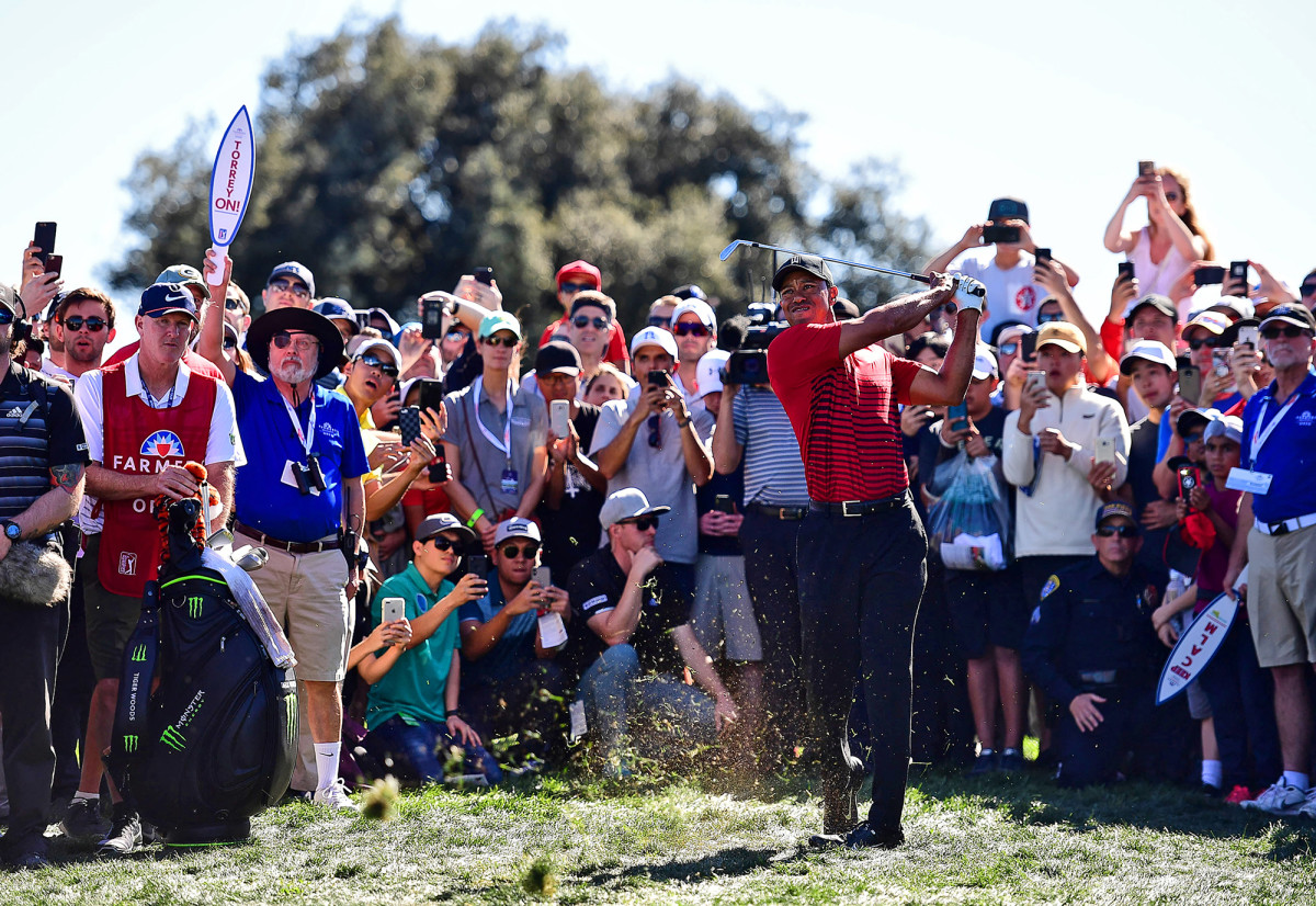 Tiger Woods at the PGA Farmers Insurance San Diego Open Torrey Pines on Day 4