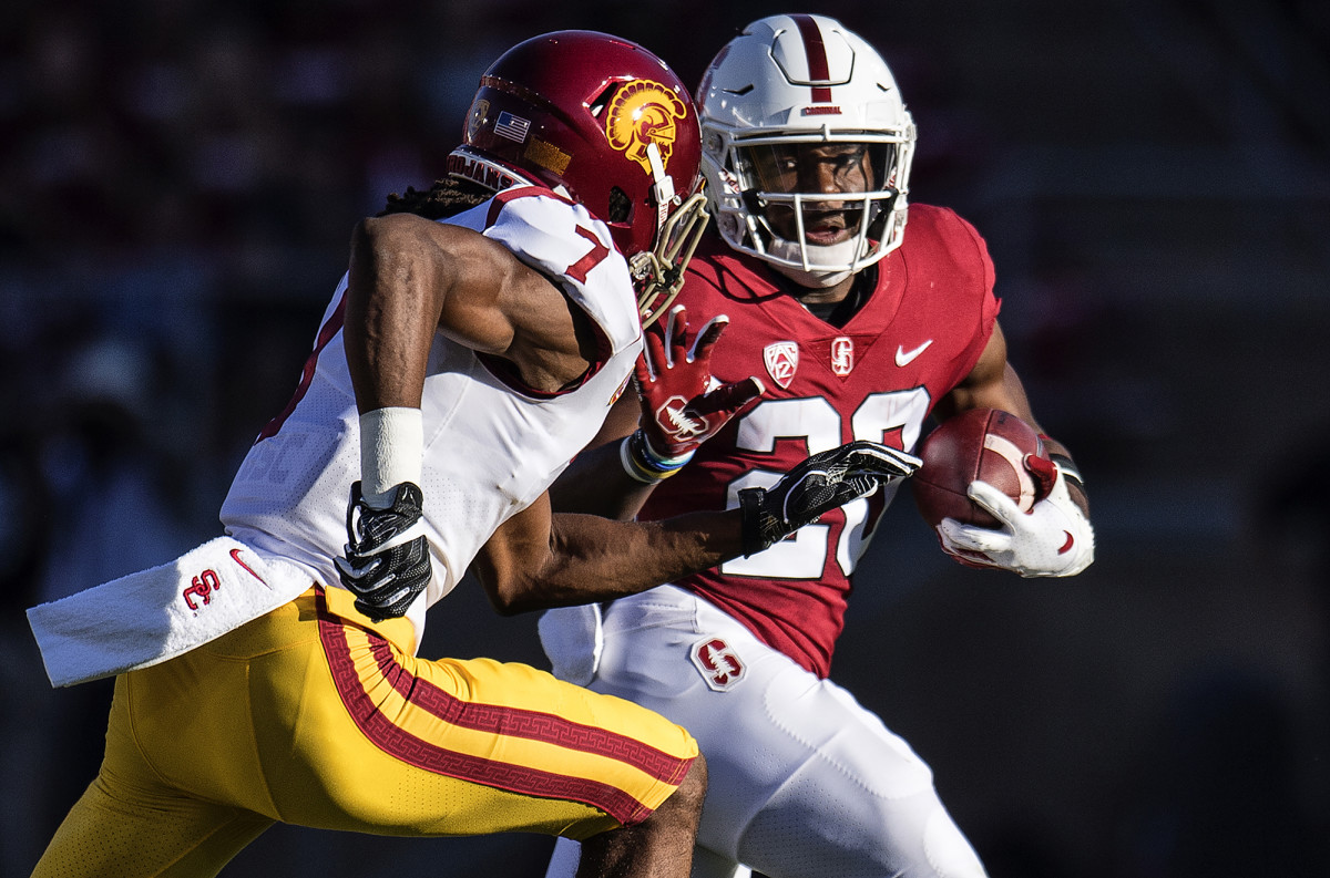 Bryce Love of Stanford vs. Marvell Tell III of USC