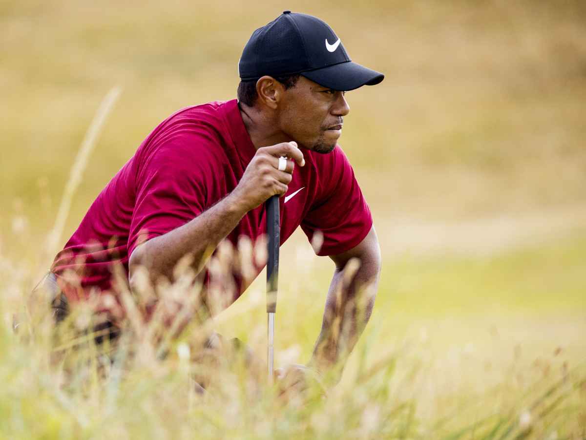 Tiger Woods during the final round of the 2018 British Open Championship