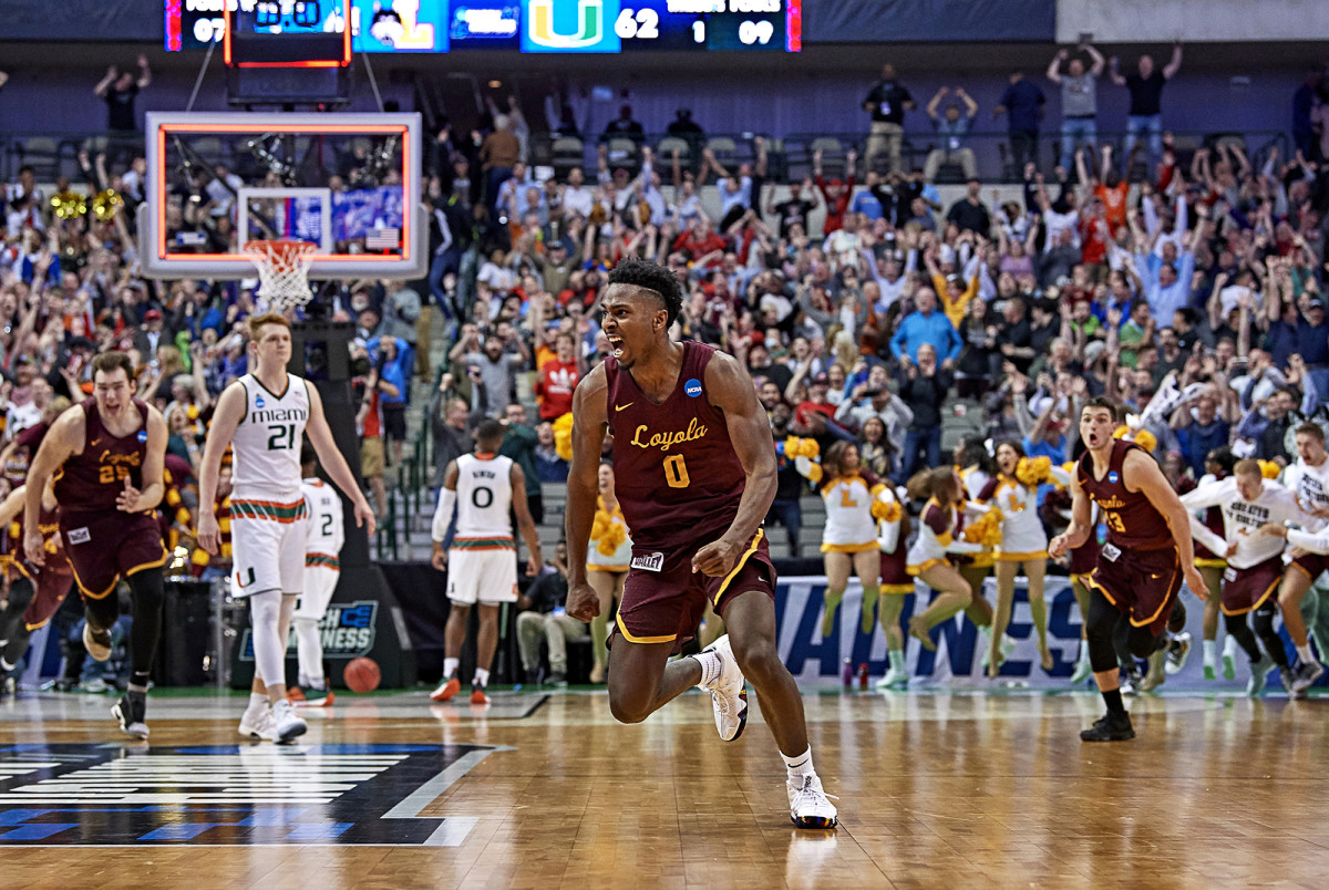 Donte Ingram of Loyola–Chicago against Miami during the first round of the NCAA tournament