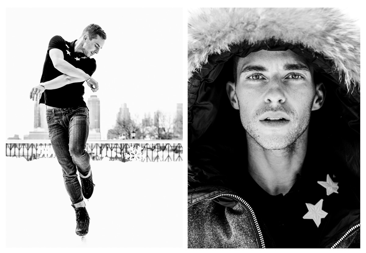 Adam Rippon poses for a portrait in New York City