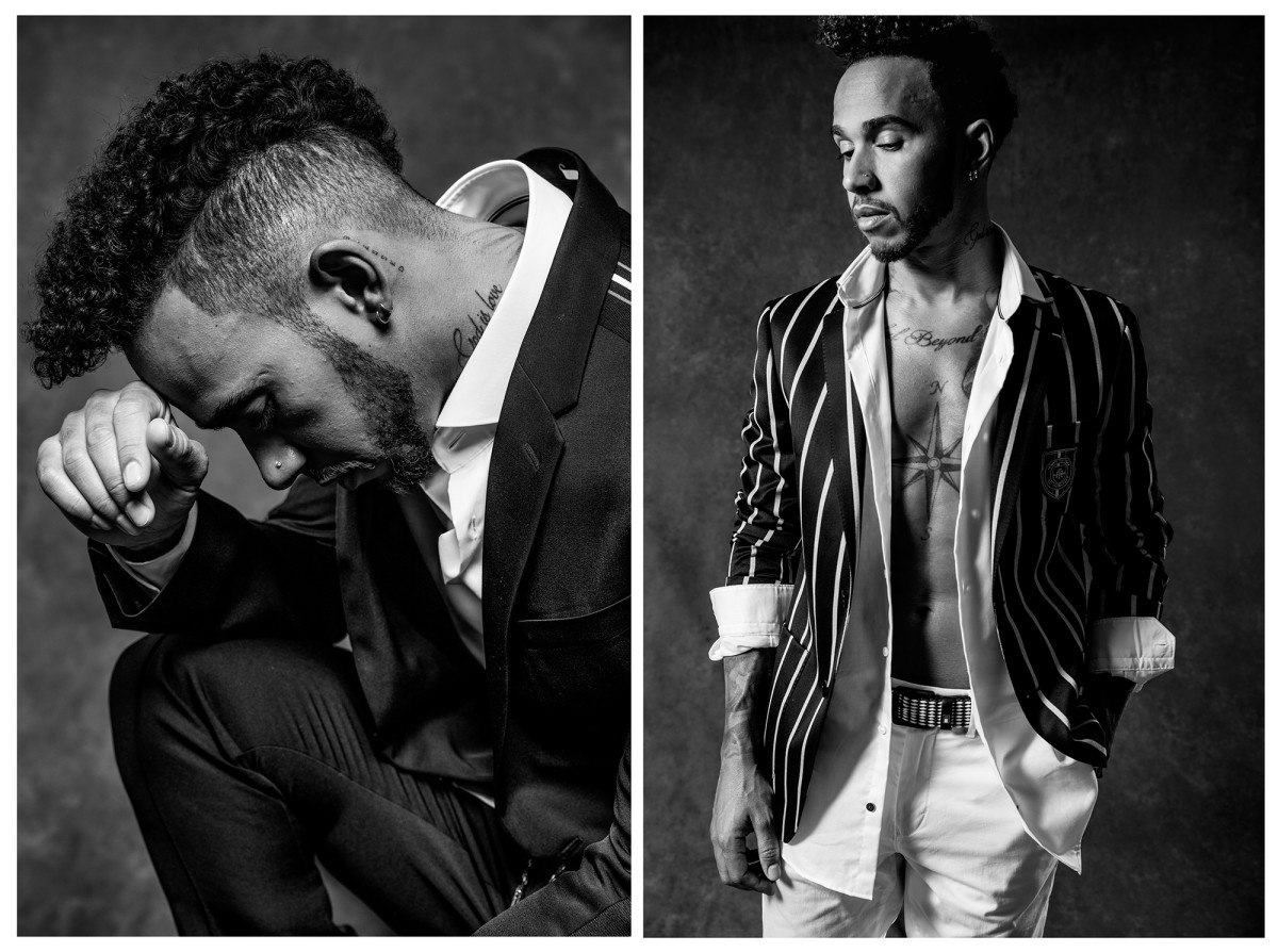 Lewis Hamilton poses for a portrait in New York City