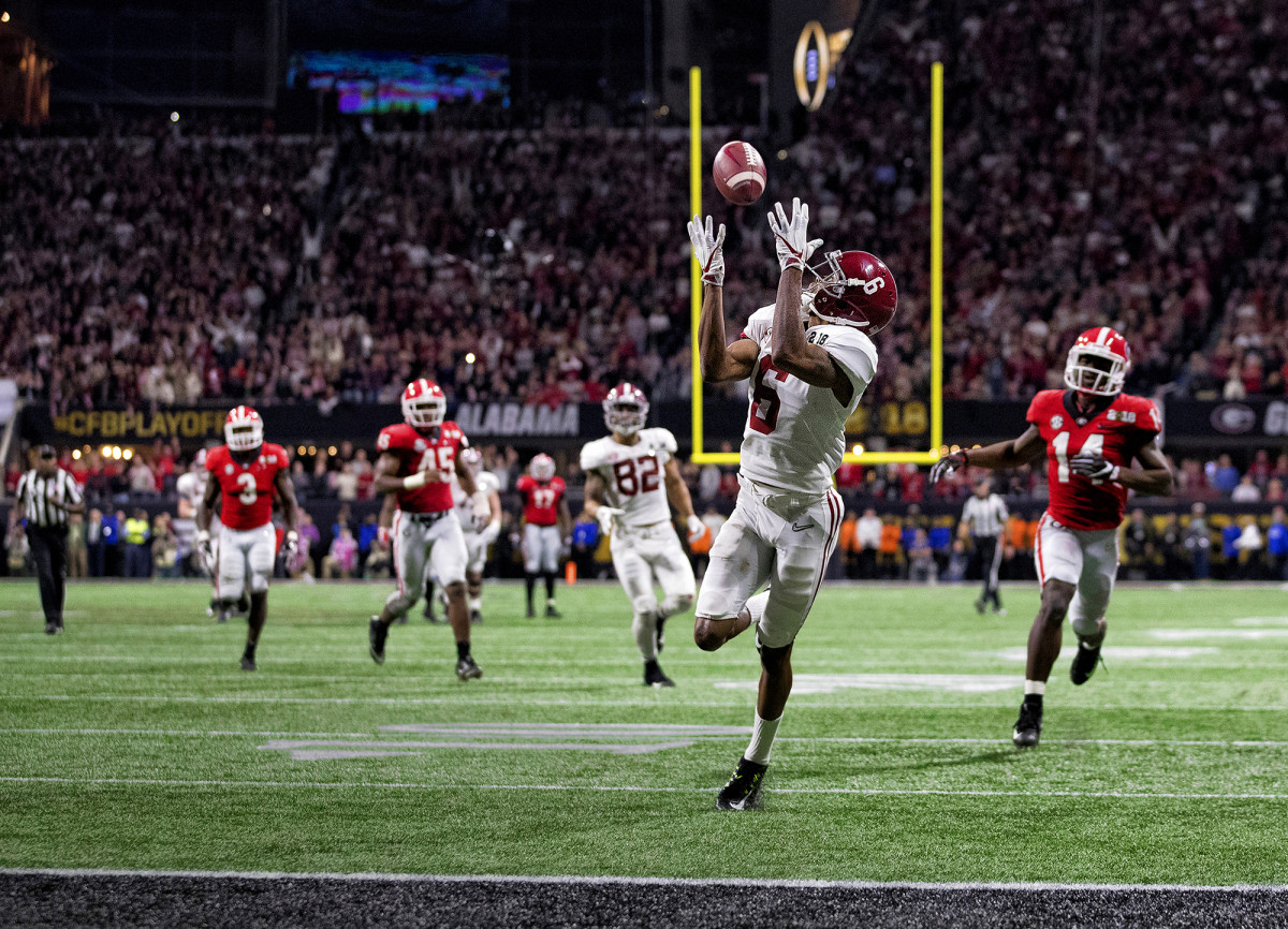 Alabama's DeVonta Smith at the 2018 College Football Championship vs. Georgia
