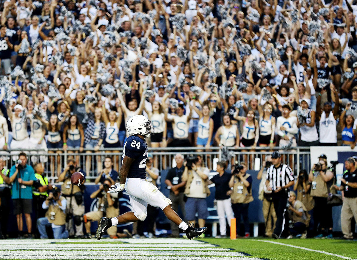 Penn State's Miles Sanders against Appalachian State at Beaver Stadium