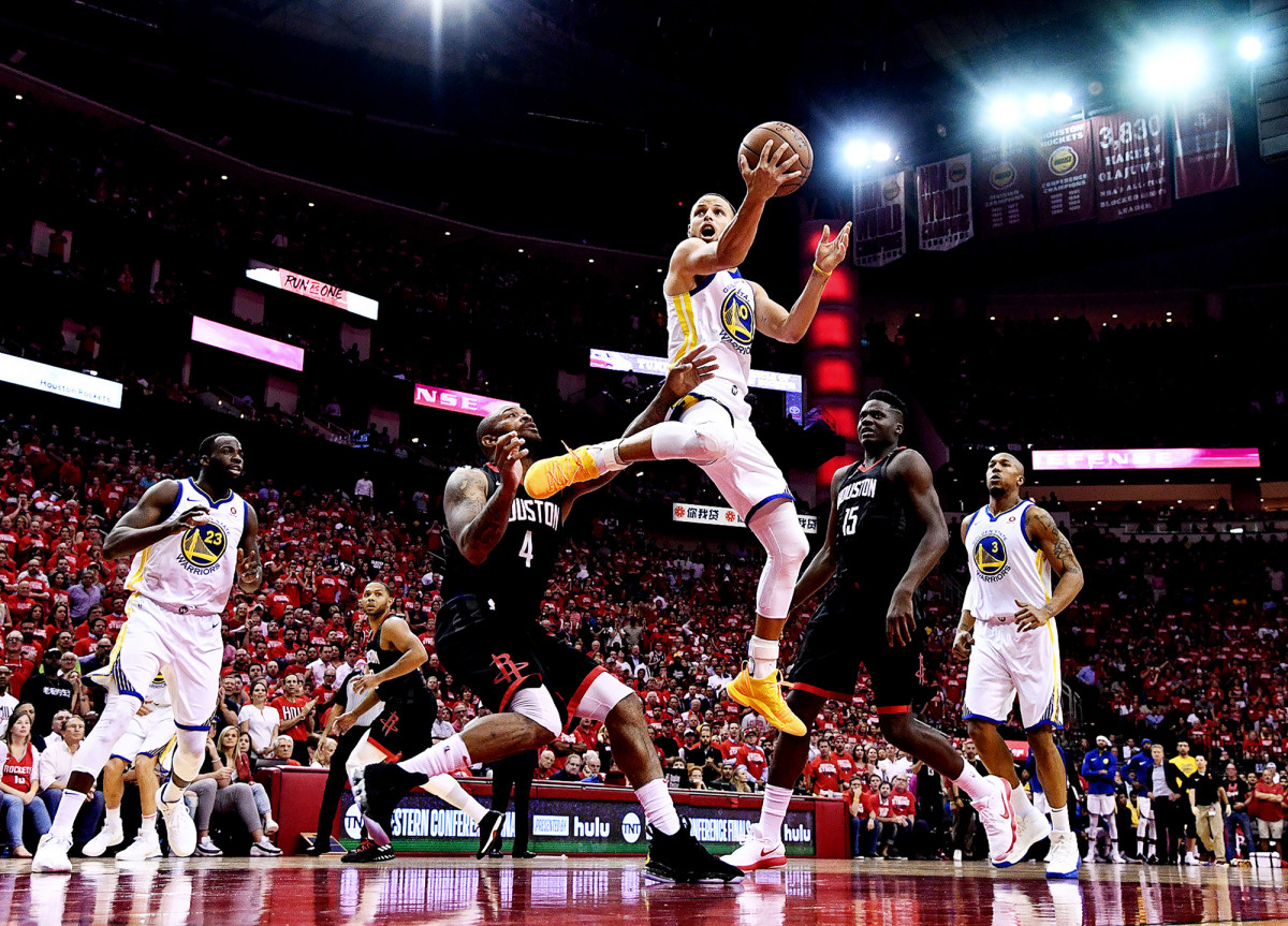 Stephen Curry against the Rockets in Game 5 of the Western Conference Finals