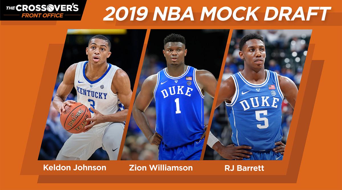 Nba Draft 2019 Zion Williamson Rj Barrett Top Projections
