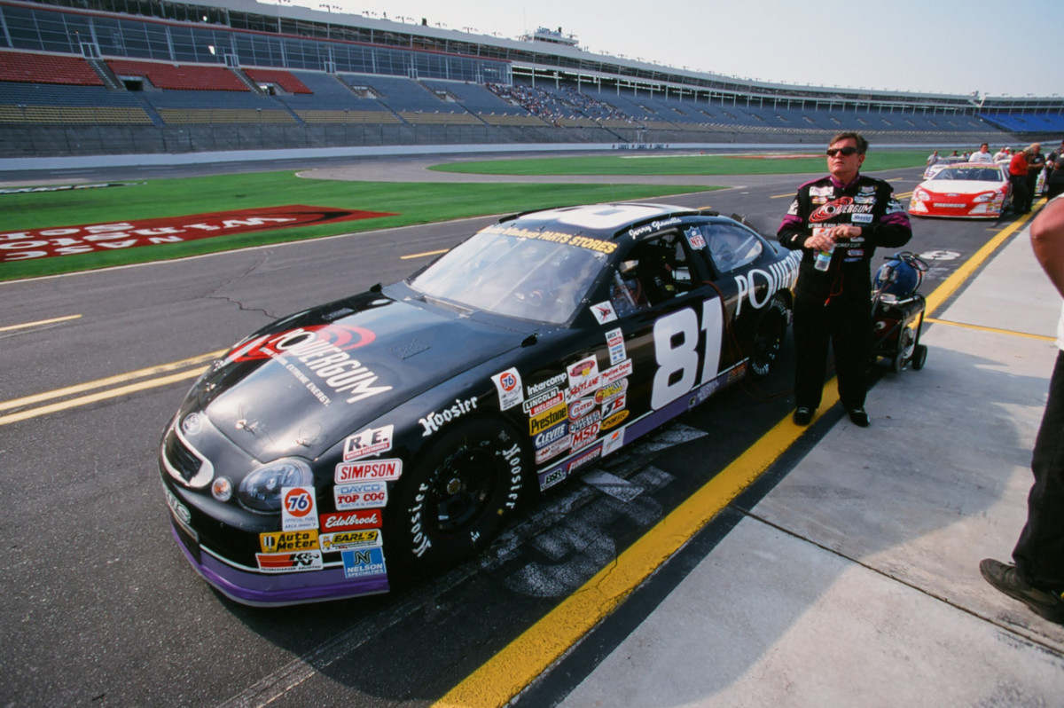 Always a fan of speed, the Man in Black drove NASCAR races in the '90s.