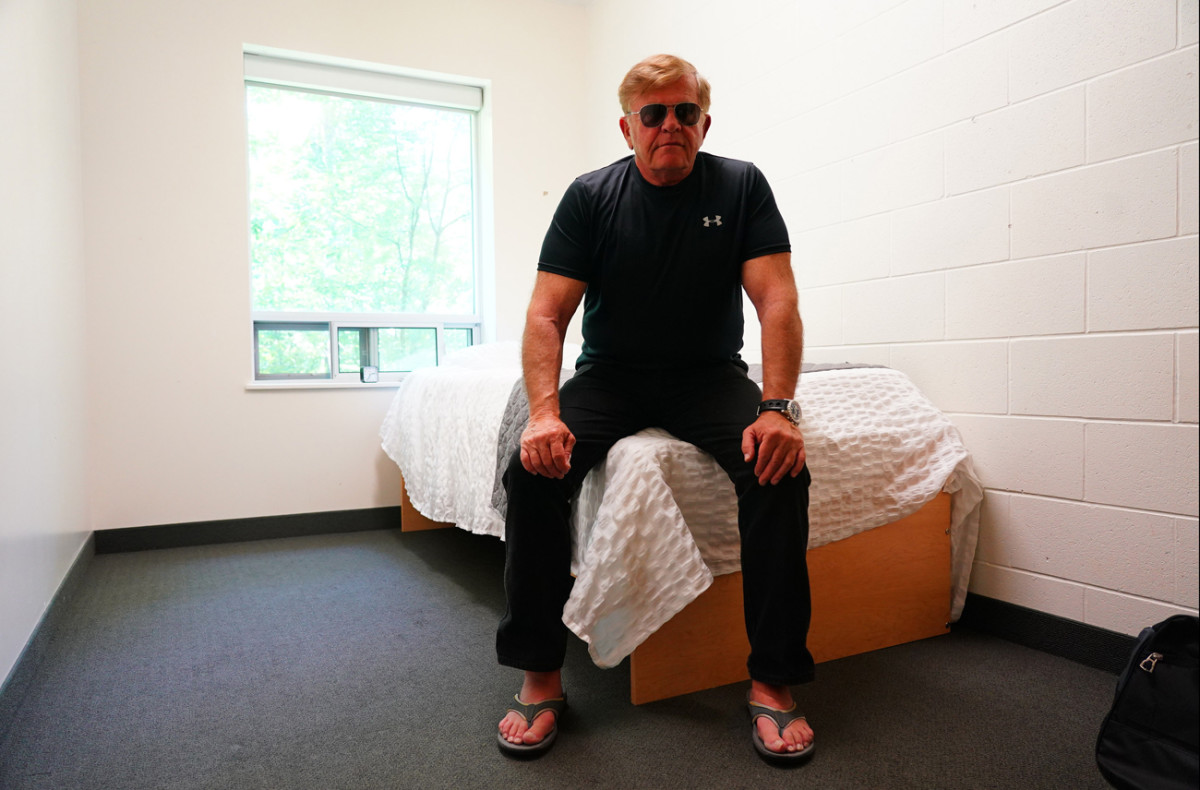 'I've been in the dormitory since 1958.' Glanville at McMaster University during Ticats training camp.