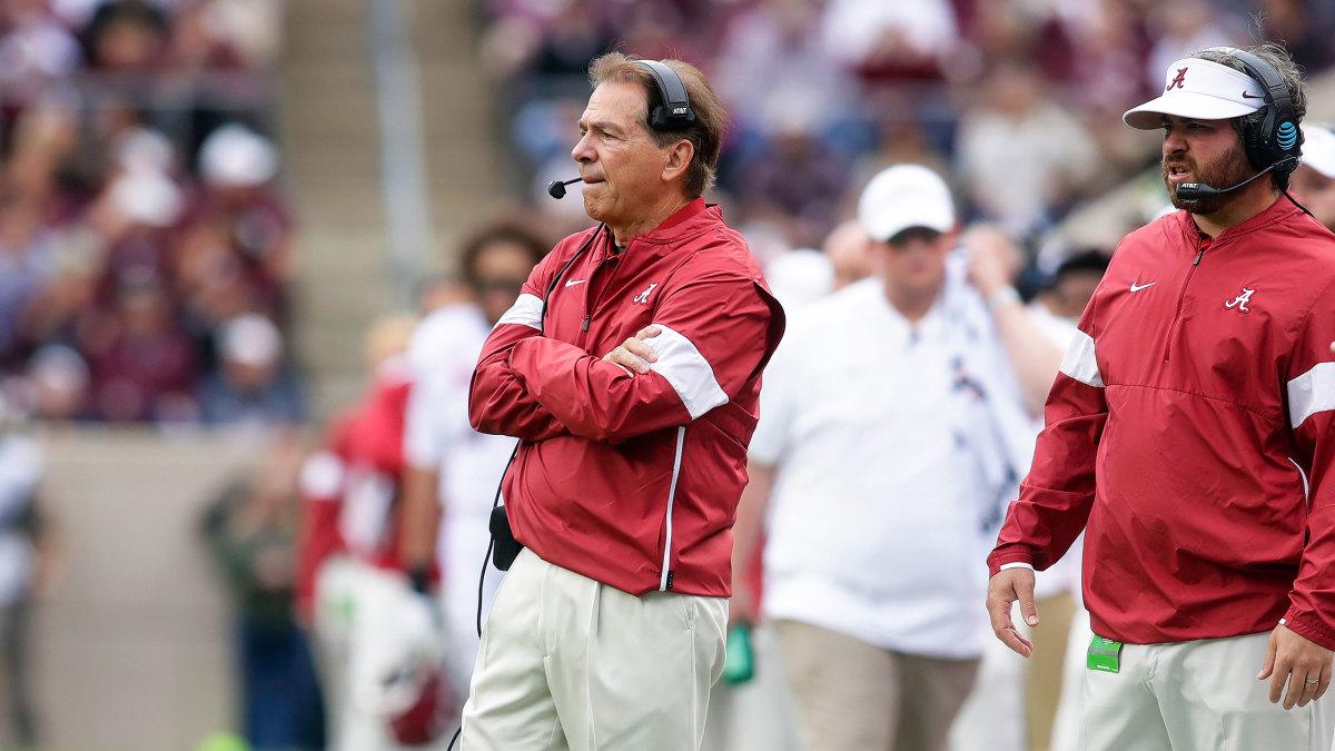 Alabama Nick Saban vs LSU football SEC